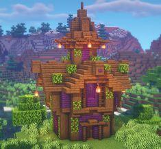 Minecraft Bridges, Minecraft House Plans, Minecraft Cottage, Cute Minecraft Houses, Minecraft Room, Minecraft House Designs, Amazing Minecraft, Minecraft Blueprints, Minecraft Creations
