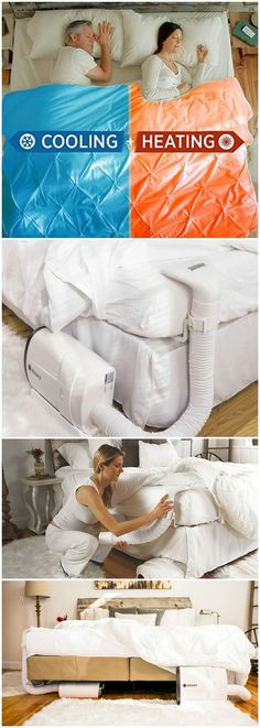 Using advanced technology the BedJet sends a gentle and quiet stream of air directly into your bed for powerful cooling and warming comfort.