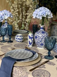 Moroccan Plates, Willow Pattern, Nautical Design, Blue China, Delft, Table Decorations, Modern, Home Decor, Mesas