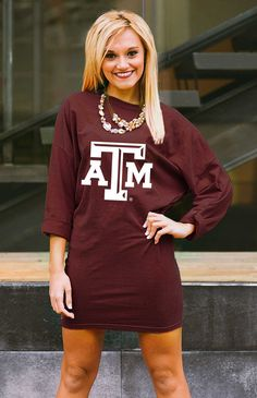 TEXAS A&M 'HERE TO TAILGATE' VINTAGE WASH TUNIC DRESS