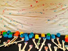 catapult paint mural - great ideas for elementary school projects