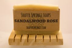 Sandalwood Rose Soap - our all natural Sandalwood Rose soap is handcrafted on our TN farm and cured for a minimum of 6 weeks
