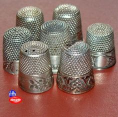 Antique Sterling Silver Sewing Thimble Collection