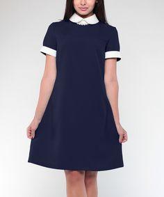 Look at this #zulilyfind! Laura Bettini Navy & Milk A-Line Dress - Plus Too by Laura Bettini #zulilyfinds