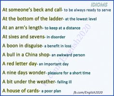 Forum   ________ Learn English   Fluent LandEnglish Idioms   Fluent Land
