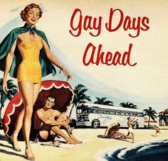 Gay Days Ahead - detail from 1952 Greyhound Bus ad.