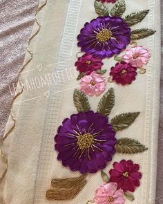 Wonderful Ribbon Embroidery Flowers by Hand Ideas. Enchanting Ribbon Embroidery Flowers by Hand Ideas. Creative Embroidery, Learn Embroidery, Embroidery For Beginners, Hand Embroidery Designs, Embroidery Techniques, Embroidery Stitches, Embroidery Thread, Ribbon Embroidery Tutorial, Silk Ribbon Embroidery