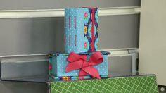 Conjunto de mini caixa e caderno costurado.  Vídeo aula disponível no Canal do Artesanato.