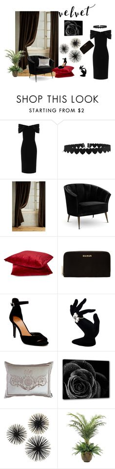 """velvet"" by perfex ❤ liked on Polyvore featuring Emilio De La Morena, Anthropologie, Arca, Balmain, 14th & Union, Lili Alessandra and NDI"