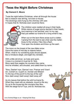 ... christmas crafts poem twas the night before christmas night christmas