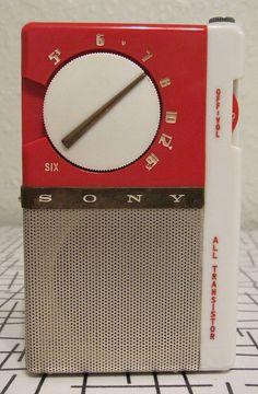 Sony TR-65 Medium Waves, Pocket Radio, Receptor, Slide Rule, Retro Clock, Retro Radios, Antique Radio, Transistor Radio, Old Music