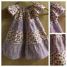 Almost time for fireworks!   This 2t cotton peasant dress is ready for the occasion!