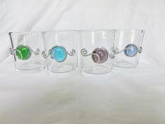 Votive Holder/ Shot Glass (Set of 4) by CraftyGalsCreate on Etsy
