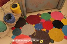 Rug made of crocheted circles - *Inspiration*