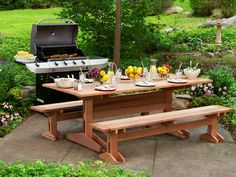 This upgrade of the classic family-barbecue staple features a trestle-and-slat design so handsome it will win praise even when it's not in use. Prep your favorite new entertaining fixture in time for warm weather