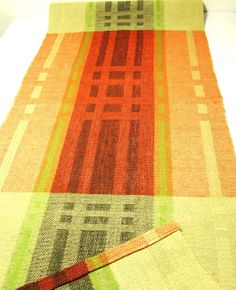 Hand woven Christmas- table runner, linen.
