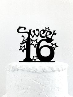 Sweet Sixteen Birthday Cake Topper Happy 16th Birthday