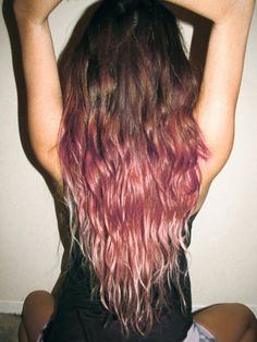 Brown to Pink Ombre Hair