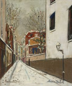 Maurice Utrillo Street In The Snow, Montmartre oil painting reproductions for sale Pin Ups Vintage, Maurice Utrillo, Painting Snow, Cityscape Art, Landscape Quilts, Oil Painting Reproductions, Montmartre Paris, Vintage Travel Posters, Claude Monet