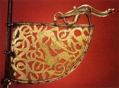 Gilded bronze weather vaneViking ship from Tingelsted, Norway; 12th century