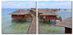 Wholesale Interiors VC-2070AB Idyllic Resort Mounted Photography Print Diptych - Each