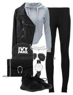 """""""Untitled #1398"""" by ruhika29 ❤ liked on Polyvore featuring Puma, Acne Studios, Ivy Park, Gucci, adidas, MANIAMANIA, Ray-Ban and Daniel Wellington"""