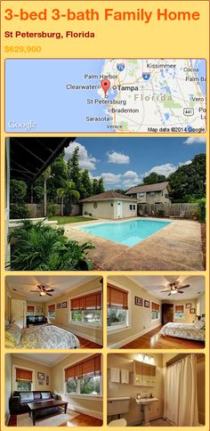 3-bed 3-bath Family Home in St Petersburg, Florida ►$629,900 #PropertyForSale #RealEstate #Florida http://florida-magic.com/properties/87756-family-home-for-sale-in-st-petersburg-florida-with-3-bedroom-3-bathroom
