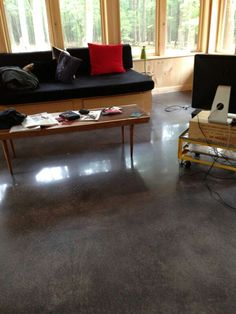 Update your home with a true polished concrete floor.