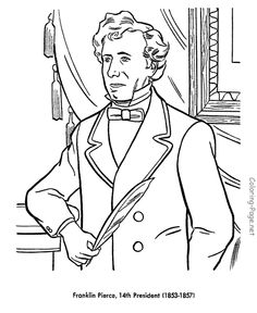 franklin pierce us president coloring pages