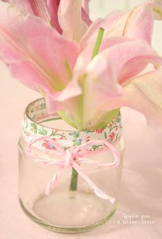 Apple Pie and Shabby Style: How to decore a glass jar