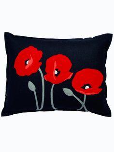 poppy pillow-make with felt