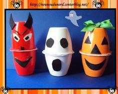 Décoration pour Halloween avec des petits suisse