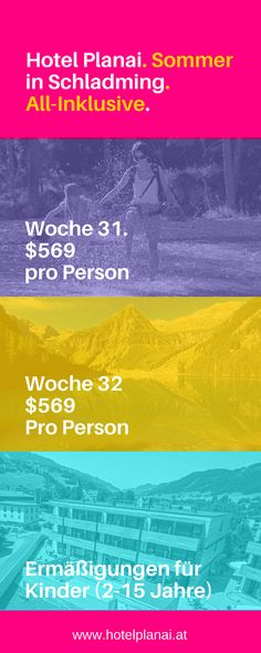 Sommerurlaub in Schladming Dachstein mit All-Inklusive und sehr gute Kinderermäßigungen Das Hotel, Planer, Movies, Movie Posters, 15 Anos, Summer Vacations, Children, Film Poster, Films