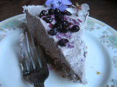 Raw lavender blueberry cheesecake