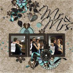 Mr & Mrs Wedding Premade Digital Scrapbook by DecidedlyDigital, $5.00