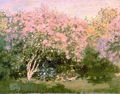 Lilacs in the sun - Claude Monet, 1873