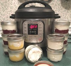 Thick Instant Pot Greek Yogurt Made lemon curd to go along with the yogurt. Rivals Noosa for yumminess.