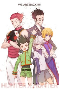 Hisoka, Leorio, Gon, Killua, and Kurapika ~Hunter X Hunter