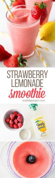 Strawberry Lemonade Smoothie