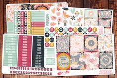 Full Bloom Spring Planner Sticker Kit Planner by BellaRosePaperCo
