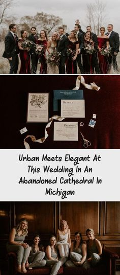 Urban Meets Elegant at this Wedding in an Abandoned Cathedral in Michigan - Green Wedding Shoes #BridesmaidDressesBoho #BridesmaidDressesStyles #BridesmaidDressesWinter #BridesmaidDressesBeach #BridesmaidDressesSpring