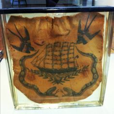 Preserved chest tattoo 1800s, Surgeons Hall museum