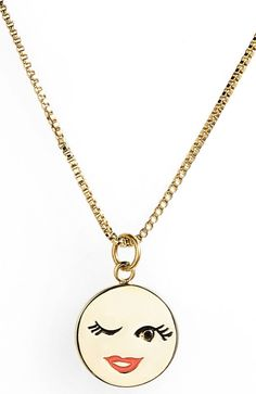 How adorable is this Kate Spade emoji necklace?