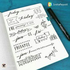 Beautiful ways to write the date beautifully