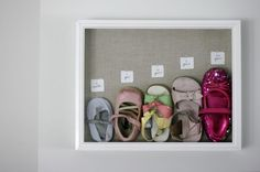 Such a cute idea! I will have to see if I actually kept enough shoes.