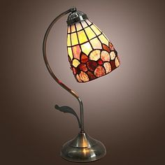 Small Lamps, Stained Glass Lamps, Tiffany Lamps, Glass Shades, Diys, Table Lamp, Chanel, Bronze, Amazon