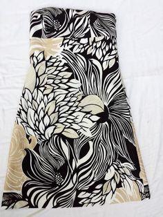 ANN TAYLOR Strapless Sundress 100% Cotton White Black Beige Floral Print Size 12 #AnnTaylor #Sundress