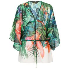 Roberto Cavalli Sheer Print Blouse ($401) ❤ liked on Polyvore featuring tops, blouses, sheer blouse, green blouse, multi color blouse, green top and holiday tops