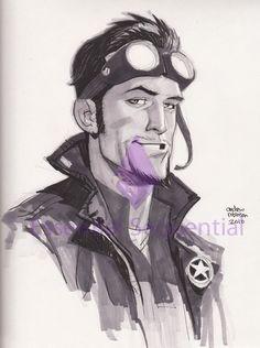 Star Man - LBCC by Andrew-Robinson.deviantart.com  .Character Drawing / Illustration