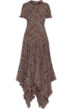 Alexander McQueen - Asymmetric Tweed Midi Dress - Pink